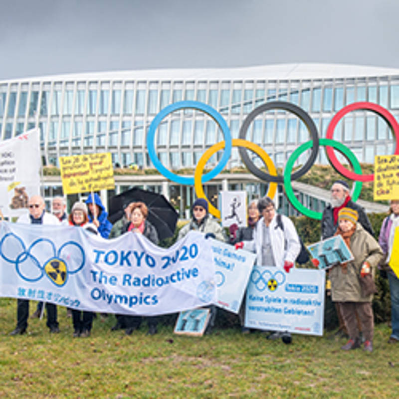 Rally in front of the IOC headquarters in Lausanne. Photo: Ch. Chammartin